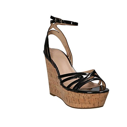 Guess FLGNY1 PAF03 Sandalo Zeppa Donna Nero