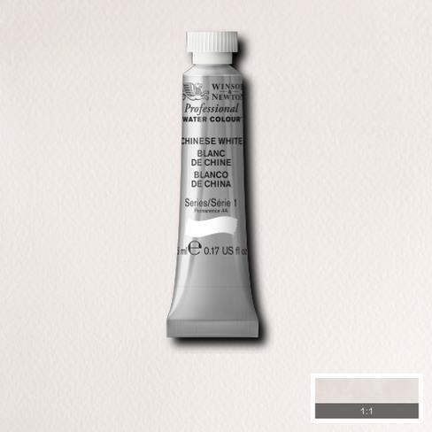 Winsor & Newton - Tubetto di acquerello professionale Artists' da 5 ml Chinese White (S1)