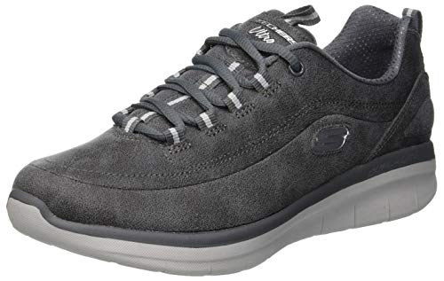 Skechers synergy 2.0, sneaker donna, grigio charcoal, 38 eu