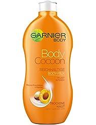 GARNIER Body Feuchtigkeitscreme Body Cocoon / reichhaltige Body-Milk für intensive Feuchtigkeitspflege (mit Micro-Fruchtölen & Karité - für trockene Haut - dermatologisch getestet) 6 x 400ml