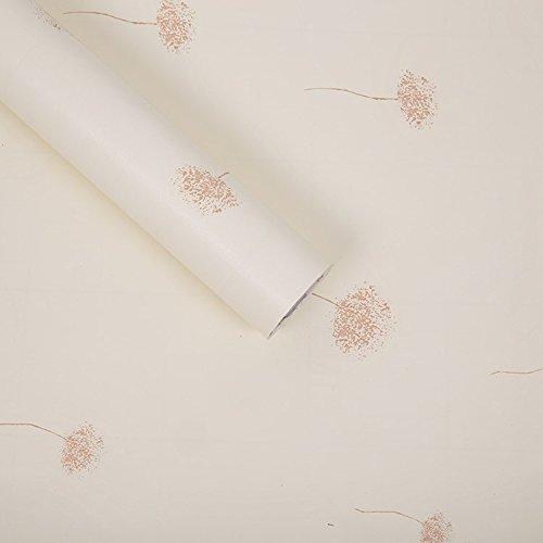 YUELA Die Wallpaper Wallpaper 10 M Hostel Selbstklebende warme und elegante Frische kleine Continental Grain Aufkleber Tür Möbel, Licht grün Am Ende 5156 Wong mit Kingsize-Bett