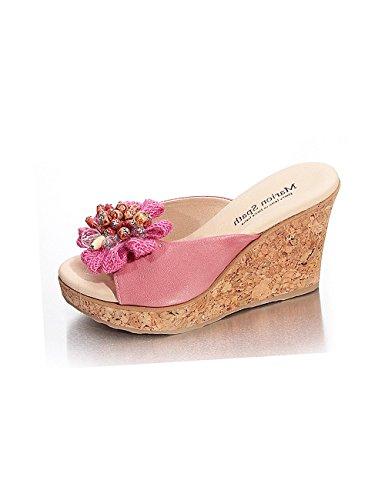 Marion Spath , chaussures compensées femme Rouge - Rose