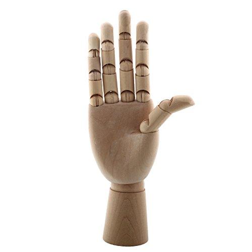 Kicode 10 Zoll Holz Rechte Hand Schaufensterpuppe-Handmodell Body Artist Modell Modellmodell Geschenk Kunst Zubehör
