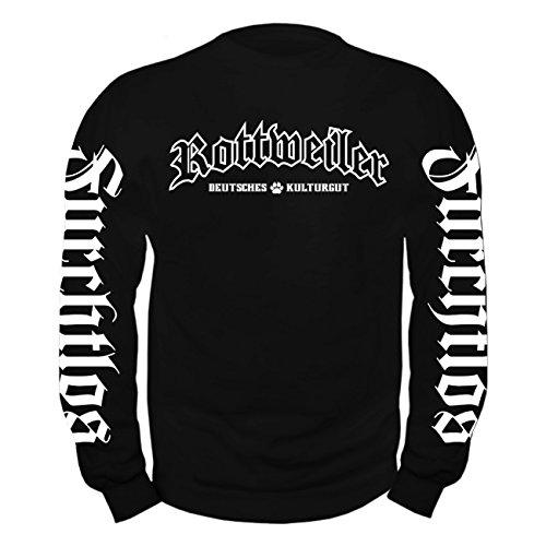 Rottweiler Pullover (Männer und Herren Pullover ROTTWEILER deutsches Kulturgut (mit Rückendruck))