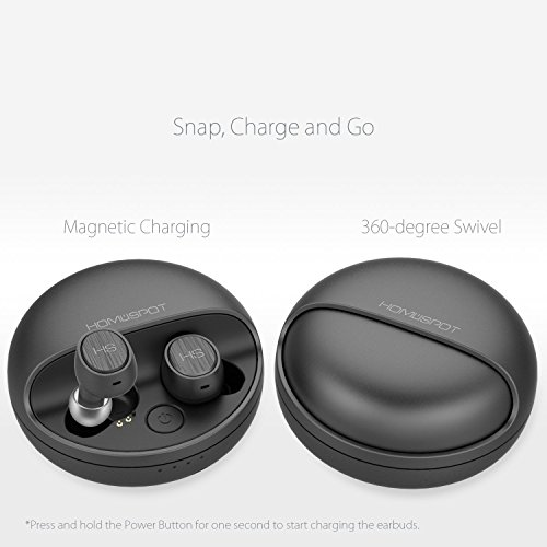 Bluetooth Kopfhörer in-ear True Wireless Ear Pods Bluetooth Headset Kabellose Kopfhörer mit Mikrofon Noise Cancellation Ladeetui Sweatproof für iPhone Smartphones Tablets Laptop AirBeansX by HomeSpot - 3