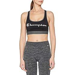 Champion The Absolute Workout Sujetador Deportivo, (Noir Logo 8mo), Small para Mujer