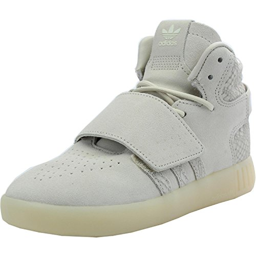 adidas Originals Tubular Invader Strap C Clear Brown Leather Junior Trainers Clear Brown