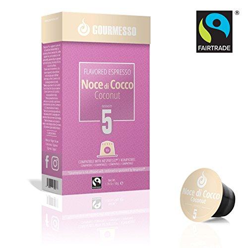 Gourmesso–Capsule da caffè compatibili con Nespresso 186