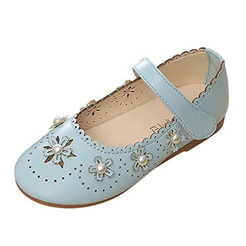 230b1934a5f171 Doublehero Baby Mädchen Niedlich Prinzessin Schuhe mit Perle Kinder Hohle  Wellen Seite Schuhe Freizeitschuhe Ballerinas Schuhe