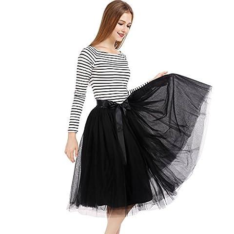 Petticoat 50er Jahre von COLLEER, Retro-Faltenrock perfekt zu Strick und