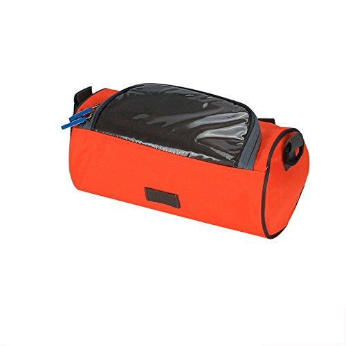 LWJgsa Wasserdichte Tasche Reiten Mountain Bike Fahrrad Handy Tasche. Orange