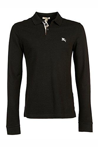 Burberry polo t-shirt maglia maniche lunghe uomo piquet nero EU XXL (UK 44) PPM6561400100