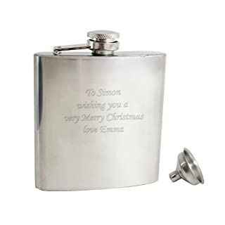 Stainless Steel 6oz Hip Flask - Free Engraving