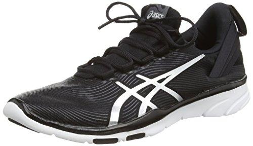 ASICS Gel-Fit Sana 2 - Zapatillas de running para mujer, color negro (black/silver/white 9093), talla 40