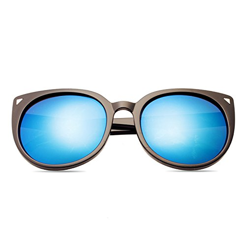Sonnenbrillen Elegante Persönlichkeits-sonnenbrille Dame Mode Polarisierte Sonnenbrille 100% Uv-schutz Black Frame Blue Film (Sammelbeutel)