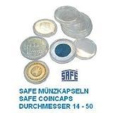 50 x SAFE Münzkapseln CAPS 33 mm / - Ideal für Medaillen - Münzen - Anlagemünzen - 20 Schweizer Franekn - 20 Mark DDR - 3 Mark Dt. Kaiserreich - Krügerrand 1 Unze Gold - 50 $ Dollar Gold American Eagle - 10 EURO / DM - Coincaps - Münzenkapseln