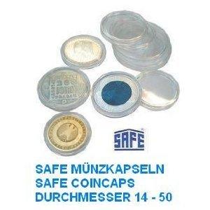 100 x SAFE Münzkapseln CAPS 33 mm / - Ideal für Medaillen - Münzen - Anlagemünzen - 20 Schweizer Franekn - 20 Mark DDR - 3 Mark Dt. Kaiserreich - Krügerrand 1 Unze Gold - 50 $ Dollar Gold American Eagle - 10 EURO / DM - Coincaps - Münzenkapseln (1 Gold Unze 4)