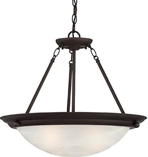 Volume Lighting V6972-79 Lunar 2-Light Pendant or Semi-Flush Ceiling, Antique Bronze by Volume Lighting (Antique Bronze Semi Flush)