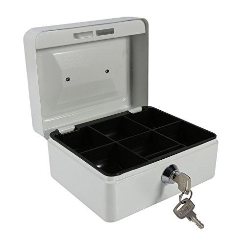 Caja fuerte portátil Cajas de caudales Caja de dinero pequeña con cerradura...