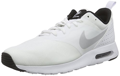 Nike Herren Air Max Tavas Low-Top Weiß (103 WHITE/PURE PLATINUM-BLACK)
