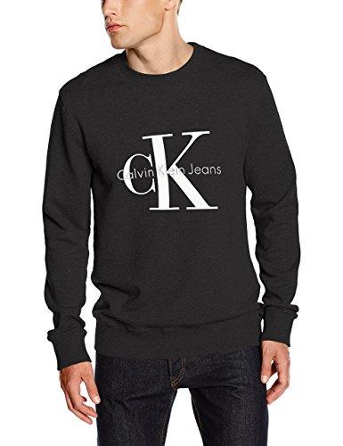 Calvin Klein Jeans Herren, Sweatshirt, Crew Neck HWK, Schawrz (Meteorite), XL (Calvin Klein Leichte Jeans)