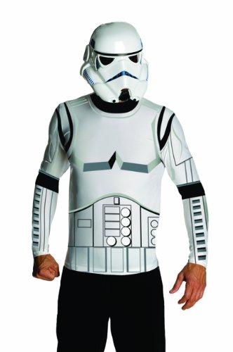 Star Wars Herren Kostüm Stormtrooper Shirt mit Maske Gr.L