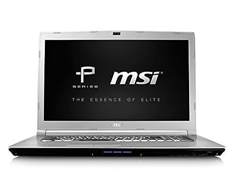 PC portable MSI PE70 7RD-277FR - 17.3' LED Full HD Intel Core i7-7700HQ RAM 8Go SSD 128Go + HDD 1To NVIDIA GeForce GTX 1050 2Go DVD-RW Wi-Fi AC/Bluetooth Webcam Win 10 Famille 64 bits