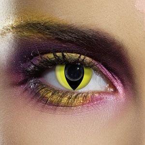 80101 YELLOW CAT gefärbte Kontaktlinse Crazy Kontaktlinsen, Farbspaß, (Kontaktlinsen Kosten)