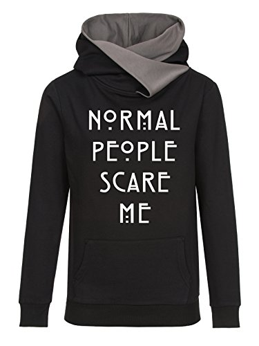 American Horror Story Normal People Scare Me Sweat capuche Femme noir/gris S
