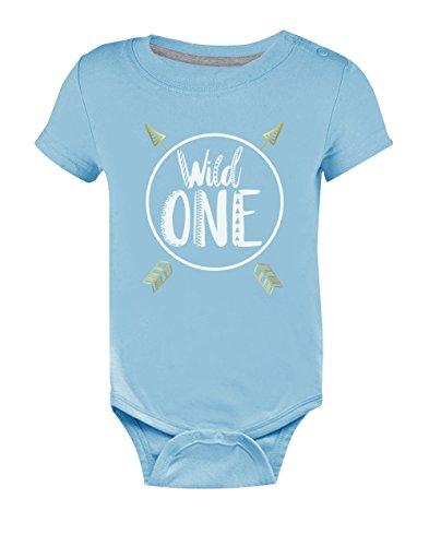 Green Turtle T-Shirts Wild One pour bébé d' 1 an Unisexe Body Bébé Manche Courte 6-9 Mes Bleu Ciel