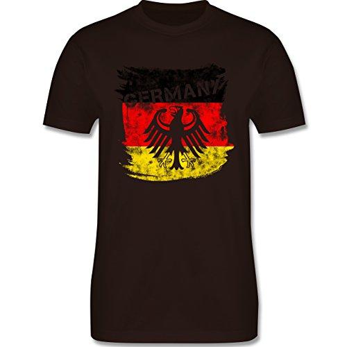 EM 2016 - Frankreich - Germany mit Adler Vintage - Herren Premium T-Shirt Braun