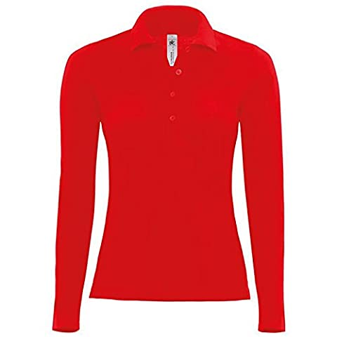 B&C Collection - Top à manches longues - Moderne - Femme - rouge - X-Small