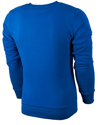 PHINOMEN Herren Sweatshirt BIG LOGO SWEATER Blue