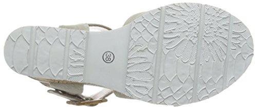 SPM - Lamborghini Sandal, Scarpe col tacco con cinturino a T Donna Grigio (Grau (Lt Grey 009))