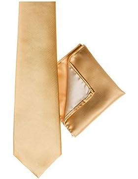 Paisley of London, corbata dorada para niños, bolsillo cuadrado, bolsillo para pañuelo