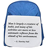 Man is largely a creature of habit, and many of his activities are more or less automatic reflexes from the stimuli of his environment. printed kid's blue backpack, Cute backpacks, cute small backpack