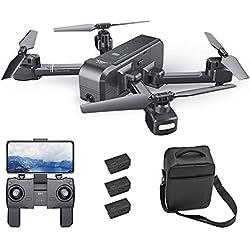 Goolsky SJ R / C Z5 1080P Cámara Gran Angular WiFi FPV Drone GPS Retorno automático Sígueme Gesto Foto RC Quadcopter con 3 baterías y Bolso