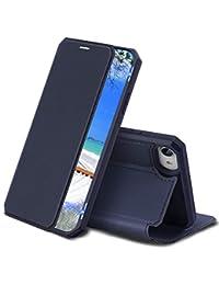 Radoo Funda para iPhone SE 2020 (4,7 Pulgadas), Premium PU Leather Carcasa con Interior de TPU [Función Magnética] [Ranura para Tarjetas] Funda con Tapa Libro (Azul)
