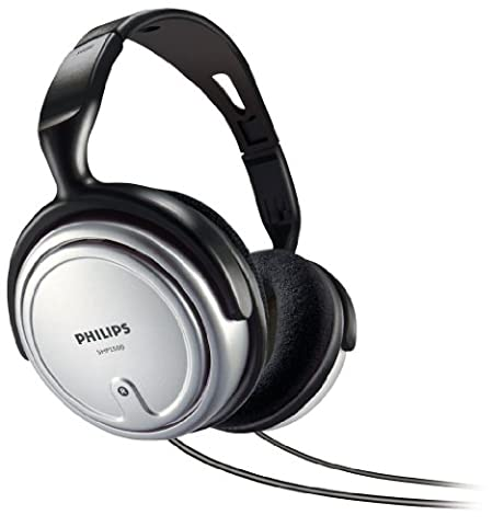 Philips SHP2500/10 Indoor Corded TV Headphone (Over-Ear for Music/PC/TV) - Gray