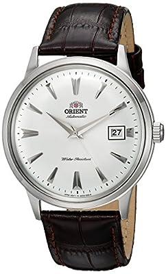 Orient de hombre de 2ª Gen Bambino ver. 1'japonés automático reloj vestido de cuero y acero inoxidable, color: marrón (modelo: fac00005W0) de Orient