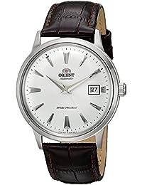 Orient de hombre de 2ª Gen Bambino ver. 1'japonés automático reloj vestido de cuero y acero inoxidable, color: marrón (modelo: fac00005W0)