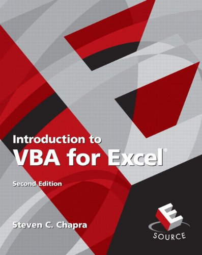 Introduction to VBA for Excel (Esource/Introductory Engineering and Computing)