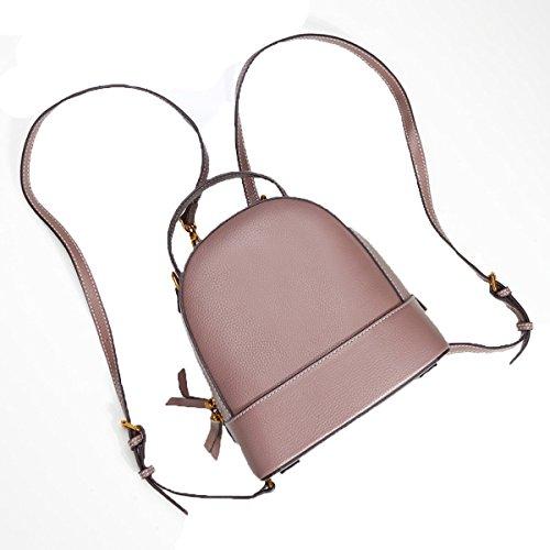 Neue Mini-Umhängetasche Frau College-Stil Schulter Diagonal Portable OL Rucksack,Pink-S