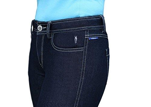 Toklat irideon Plain Pocket Stretch Denim Reithose, navy - Irideon Riding Hose