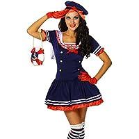 Karneval Mottoparty Süsses Marine-Kostüm blau/rot/weiß GrS-M
