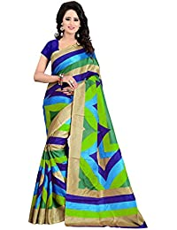 Netra Fashion Women's Latest Design Bhagalpuri Silk Saree With Blouse Piece(NFS1567_Multi-Color_Free_Size)