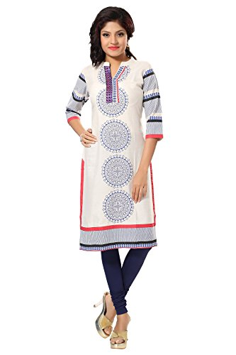 desi-aura-nx-charismatic-chakra-off-white-and-blue-printed-cotton-long-kurti-pack-of-1