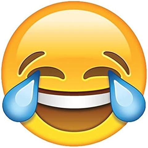 Emoji Emoticons Crying con risate gigante da parete in vinile