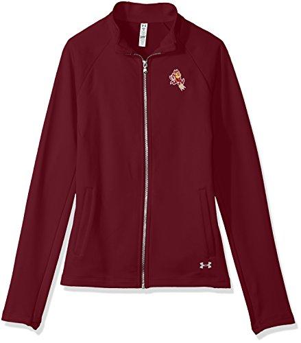 Under Armour NCAA Damen NCAA Damen-Frottee-Rücken-Kapuze mit durchgehendem Reißverschluss, Damen, Women's Terry Back Full-Zip, kastanienbraun, X-Large Full Zip Shirt Terry