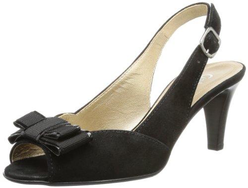 Gabor Shoes Gabor 81.803.17 Damen Sandalen, Schwarz (schwarz (LFS rot)), EU 38 (UK 5) (US 7.5)